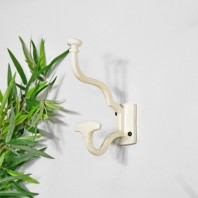 """Madame Anouk"" Cream Hook With Wide Coat Holder"