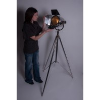 """Stainless Steel """"Hollywood House"""" Studio Style Tripod Light"""