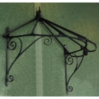 Honeysuckle cottage Over Door Canopy hand made in Wrought Iron