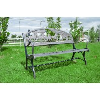 """Countryside Paddock"" Horse Design Cast Iron Bench"