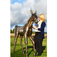 Hand Made Fabricated Steel Horse Sculpture