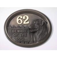 House Sign - Bronze Finish - Rottweiller