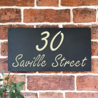 "Cream ""Saville"" House Sign"