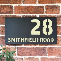 "Cream ""Smithfield"" House Sign"