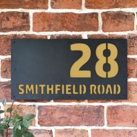 "Sand Yellow ""Smithfield"" House Sign"