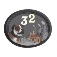 House Sign - Hand Painted - Staffordshire Bull Terrier