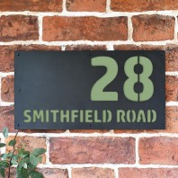 "Pale Green ""Smithfield"" House Sign"