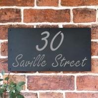 "Light Grey ""Saville"" House Sign"