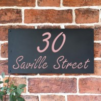 "Light Pink ""Saville"" House Sign"