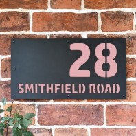 "Light Pink ""Smithfield"" House Sign"