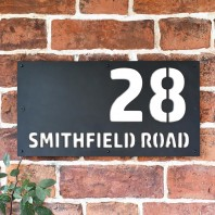 "White ""Smithfield"" House Sign"