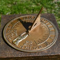 Antique Brass 'Old Father Time' Sundial - 200mm