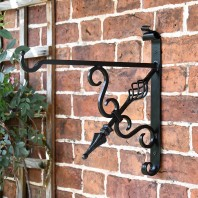 """Cupid's Arrow"" Blacksmith Iron Hanging Bracket"