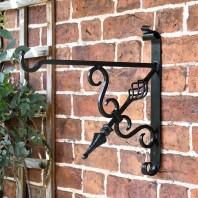 """Cupid's Arrow"" Blacksmith Iron Hanging Bracket"