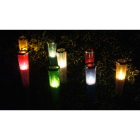 Olympic Tea Light Cones - Clear Coloured Glass
