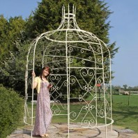 """Rapunzel"" Cream Tower Top Gazebo"