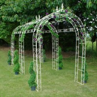 """Willow Winds"" Large Rose Arch - Three Arches"