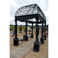"""Knellburn Estate"" Black Royal Palace Gazebo"