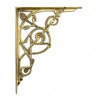 Trellis Brass Shelf Brackets (24 x 19cm)
