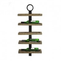 Industrial Five Bottle Wine Rack