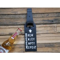 Bottle-Shaped Cast Iron Bottle Opener