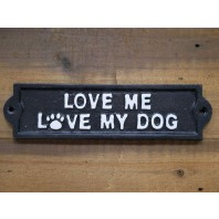 Dog Love Quirky Metal Sign