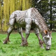 """""""Sea Biscuit"""" Iron Drinking Horse Garden Sculpture"""