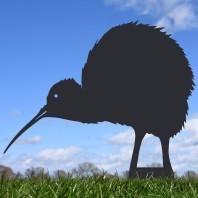 Black Kiwi Bird Silhouette