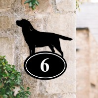 Labrador Iron House Number Sign