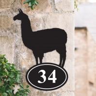 Lama Iron House Number Sign