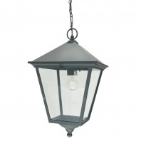 """Brooksby"" Large Black Victorian Hanging Chain Lantern"