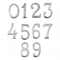 "6"" Numbers - Heavy Bright Chrome Big 'N' Bold"
