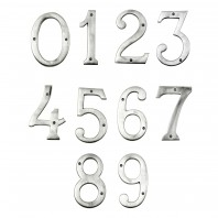 Large Satin Chrome House Numbers