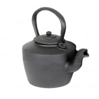 Large Rustic Cast Iron Kettle (Decorative Purposes)
