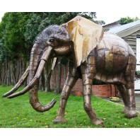 """""""The Colonel"""" magnificent iron sculpture of an African elephant"""