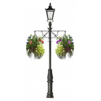 Scroll Effect Single Basket Hanging Basket Bracket For Lamp Posts
