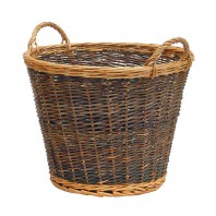 Large Mixed Tone Traditional Log Basket