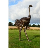 """Orinville"" Large Ostrich Walking Sculpture"