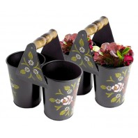 Canal Art Style Double Bucket Planter