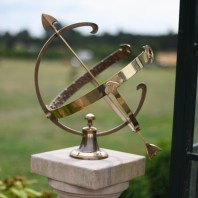 "Large ""Profatius"" Antique Brass Armillary"