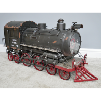 Large Vintage Steam Train Clock Ornament