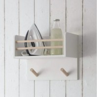 Pine & Beech Wood Multi-Purpose Ironing Shelf