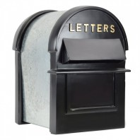 Black & Gold Grosvenor Telescopic Post Box