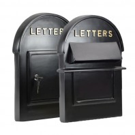 "Black & Gold ""Grosvenor"" Post Box - Front & Back Plates"