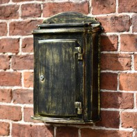"""Dusted Treasures"" Antique Bronze Wall Mounted Post Box"