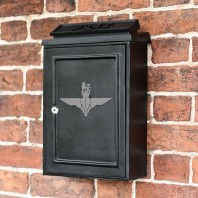 """British Parachute Regiment"" Design Wall Mounted Post Box"