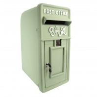 """Forest Green"" King George Post Box"