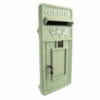"""Forest Green"" King George Rex Post Box Front"