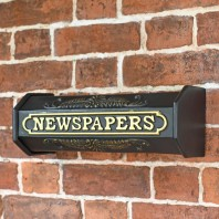 """Times Past Victorian"" Black Styled Newspaper Box"
