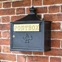 "Black ""The Suffolk"" Post or Parcel Box"